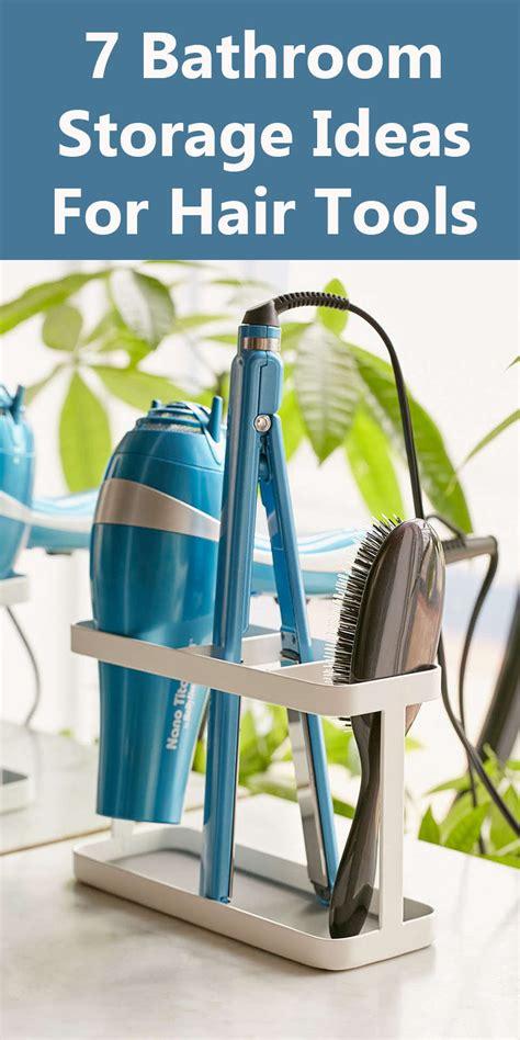 bathroom storage ideas  hair tools contemporist