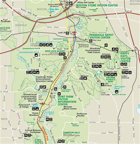 cuyahoga valley national park map map   cuyahoga valley