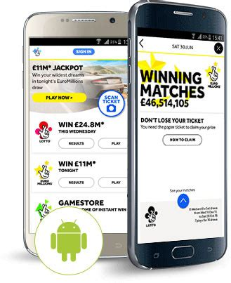 scan lottery tickets at home the national lottery official app on the app