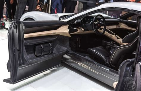 porsche mission e doors iaa peeking past those clamshell doors does the mission