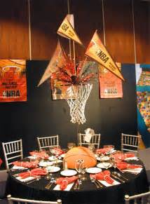 Graduation Decoration Ideas For Tables by Basketball Theme Centerpiece The Prop Factory Flickr