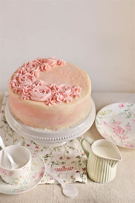 layer cake de vainilla  agua de rosas