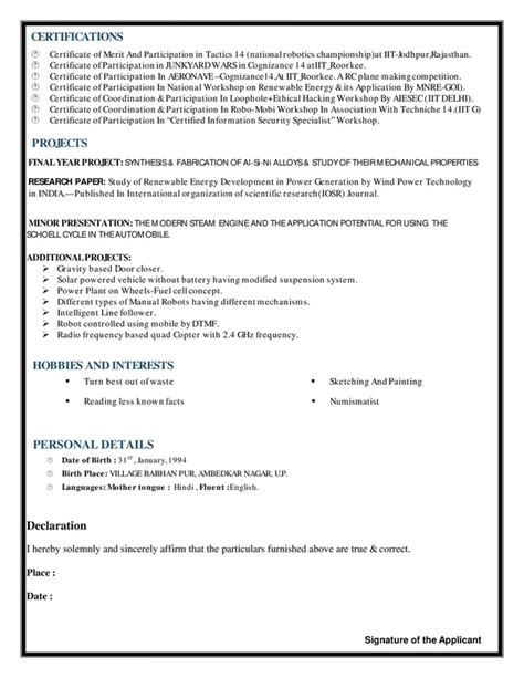what is the best resume for mechanical engineer fresher quora