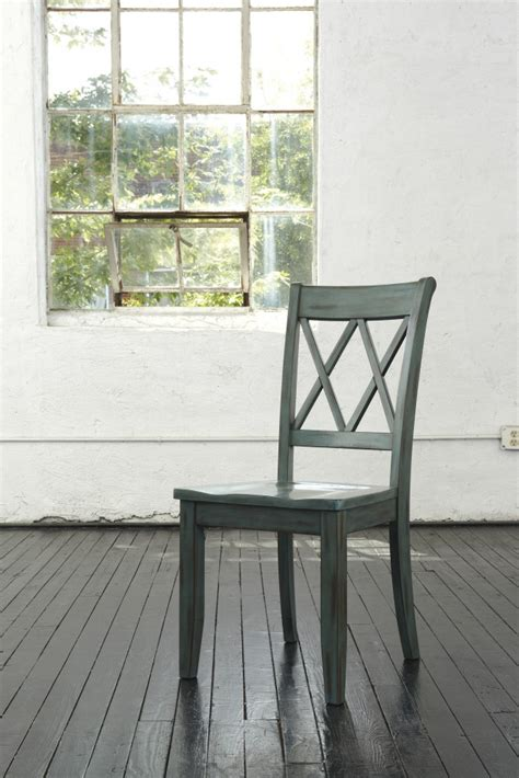 mestler blue green dining room side chair set of 2