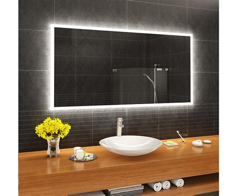 Designer Bathroom Mirrors by Designer Backlit Led Bathroom Mirror L01 Artforma