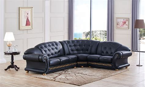 Contemporary Modern Genuine Italian Sectional Lincoln