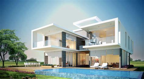 Bilder Villen by Amazing Modern Stylish Villa Furnished White