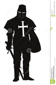 Knight with Sword Silhouette