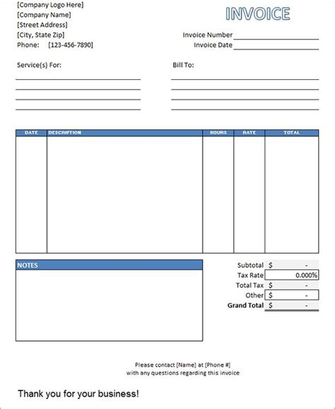 labor invoice template invoice invoice template
