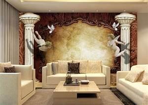 custom 3d wallpaper mural living room HD Continental Angel ...