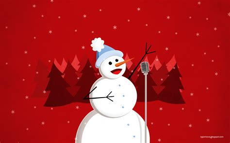 christmas happy singing snowman