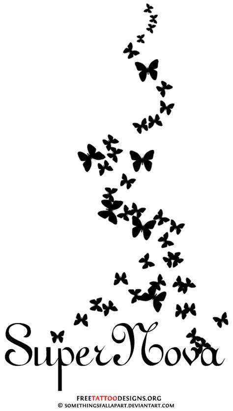 tattoo design - Loralai's name with butterflies...foot tattoo idea   Tribal butterfly tattoo