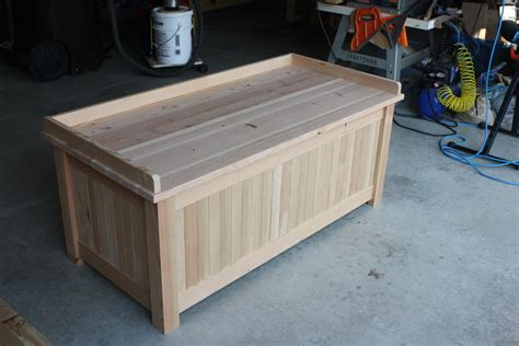 storage bench  simonskl  lumberjockscom woodworking community
