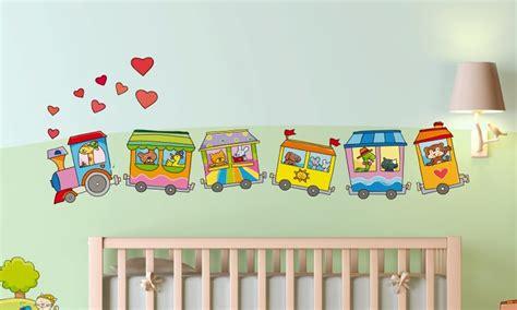 Stickers Per Camerette Bambini by Stickers Murali Bambini Cameretta Il Trenino A Vapore