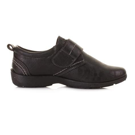 black comfortable work shoes womens flat leather style comfortable comfy black work