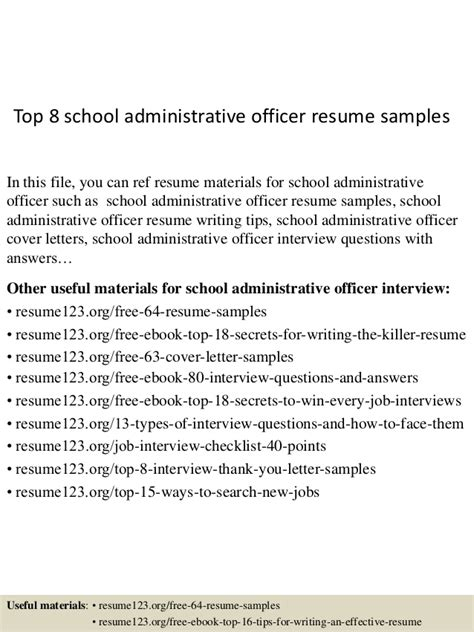 top  school administrative officer resume samples