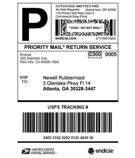 print ups return label amazon