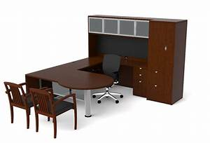 of4s p shaped u desk with hutch and pedestal 72quotw x 98quotd With p and s home furniture