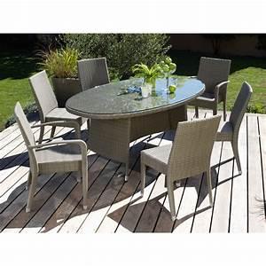 Table Jardin Tressée : table de jardin resine tressee ~ Premium-room.com Idées de Décoration
