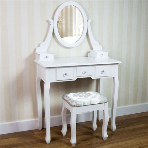 white desk with mirror nishano dressing table drawer stool mirror bedroom makeup