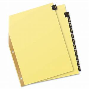 avery 11351 monthly gold line black leather tab dividers With avery monthly tab dividers