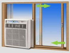 side  window ac unit install installing air conditioner  sliding window