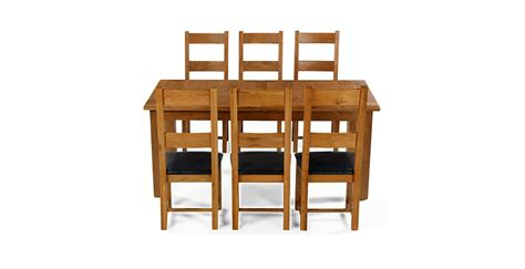 oak dining table chairs emsworth oak 180 250 cm extending dining table and 6