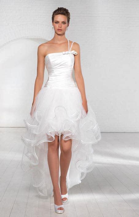 abiti da sposa corti  corti davanti  lunghi dietro