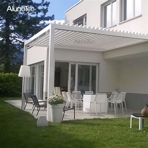 modern pergola waterproof awning louvered patio roof system for outdoor buy louvered patio