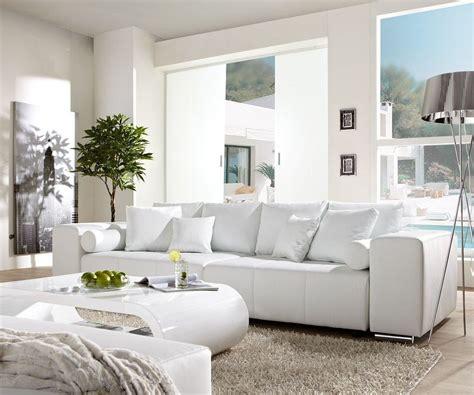 big sofa marbeya xcm weiss mit schlaffunktion