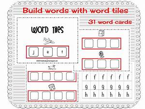 time 4 kindergarten making words with word tiles With letter tiles for making words