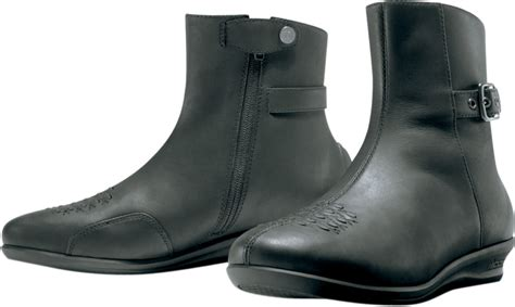 Icon Womens Sacred Short Motorcycle Boots Closeout