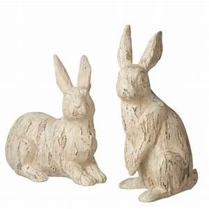 Distressed Rabbit Decor Figures (Set of 2)