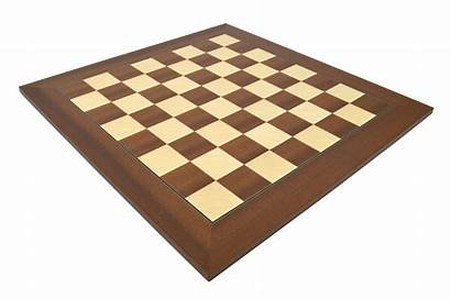 Board Chess Wood Mahogany Squares Deluxe Boards