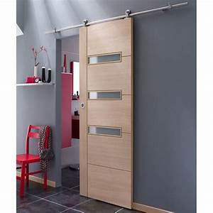 systeme coulissant en applique manhattan porte bois With porte d entrée pvc avec lapeyre applique salle de bain