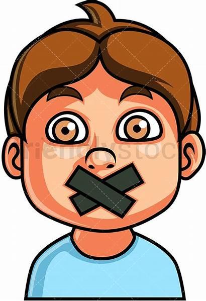 Silent Boy Face Clipart Cartoon Christopher Friendlystock