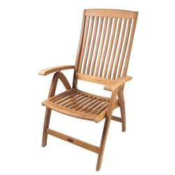 seateak weatherly folding 6 position teak deck chair