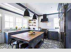 Gorgeous Ethnic Patterned Kitchen Floor Tile Design In A