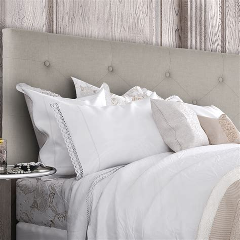 26474 beige tufted bed linen upholstered headboard button tufted size