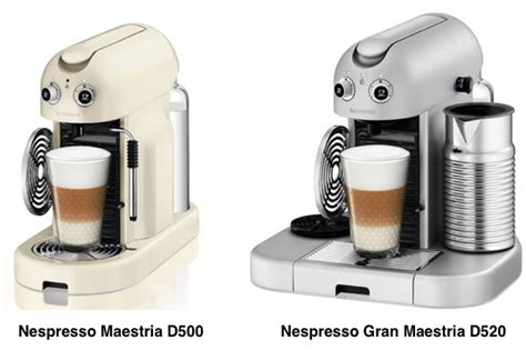 A Comparison Between Nespresso Maestria D500 and Gran Maestria D520   Super Espresso.com
