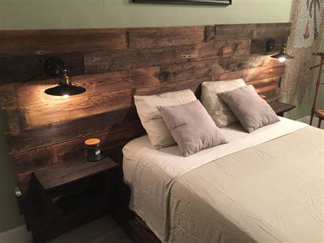 beds with lights in headboard rustic headboard reclaimed headboard head board with