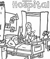 Hospital Coloring Pages Drawing Getdrawings Hospital4 sketch template