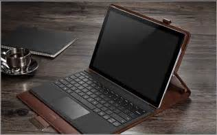 Leather Black Surface Pro 5 4 Case Covers With Pen Storage Location SPC05