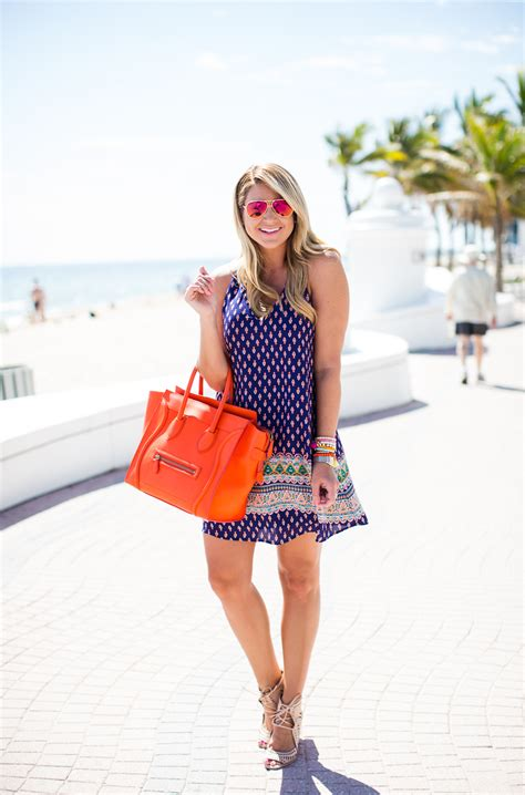 Outfit   Spring Break Print Dress - SHOP DANDY   A florida based style and beauty blog by Danielle