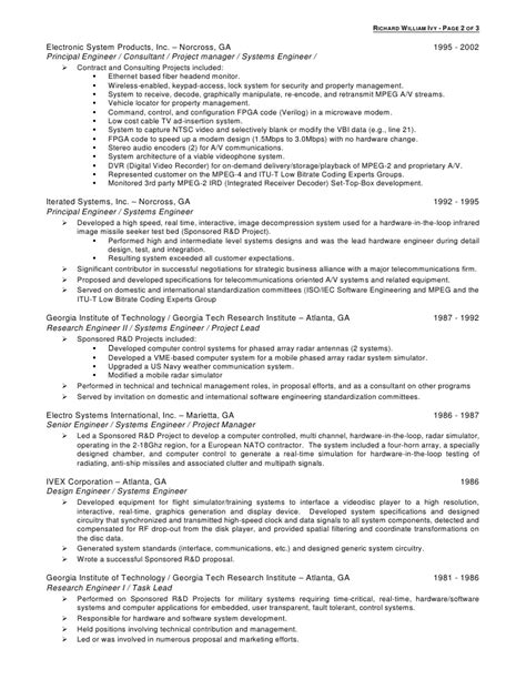 Embedded Systems Manager Resume by Embedded System Engineer Resume Richard William Resume Critical Care Resume Summary Resume