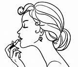 Coloring Batom Boca Messy Bun Desenho Passando Mulher Colorir Tutoriales Tudodesenhos Soulbearingquotes Dibujos sketch template