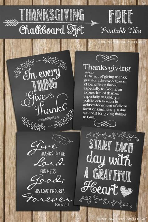 thanksgiving chalkboard art printables home