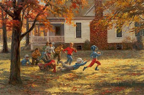 Andy Thomas Fall Football Americana Folk Art