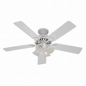 Hunter ceiling fan light kit white : Enlarged image