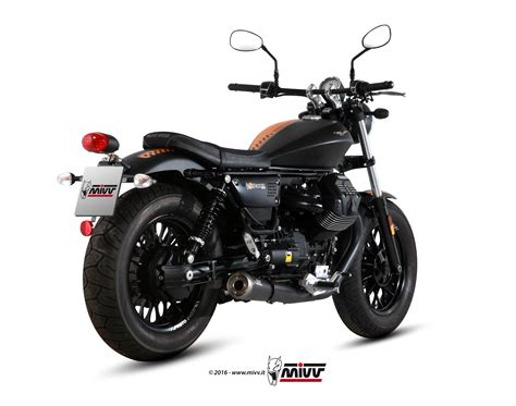 Modification Moto Guzzi V9 Bobber by Moto Guzzi V9 Bobber Roamer 2016 2 Slip On Mivv Exhaust